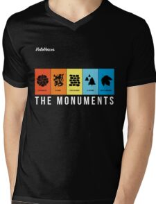 VeloVoices Monuments T-Shirt Mens V-Neck T-Shirt