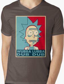 RICK SANCHEZ WUBBA LUBBA DUB DUB Mens V-Neck T-Shirt