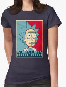 RICK SANCHEZ WUBBA LUBBA DUB DUB Womens Fitted T-Shirt