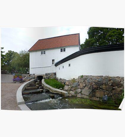 Garden near Greek Restaurant Uppsala Poster