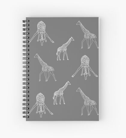 Strike a Pose (Giraffe) Spiral Notebook