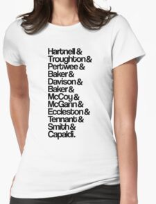 Twelve Doctors Womens Fitted T-Shirt