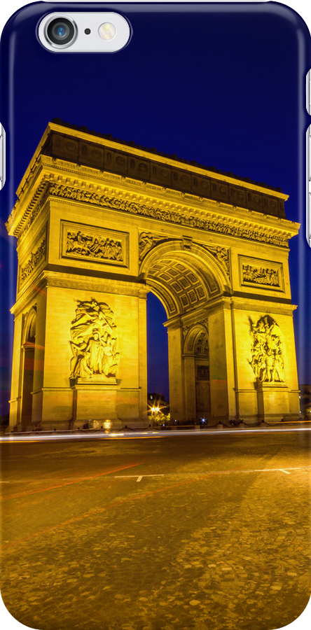 Arc De Triomphe iPhone case by John Velocci