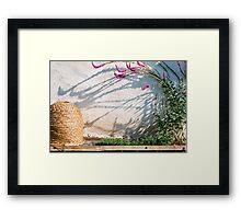 Bee house Framed Print