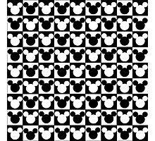Mickey Mouse - Checkered Photographic Print