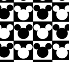 Mickey Mouse - Checkered Sticker