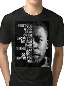 GZA Lyrics Tri-blend T-Shirt