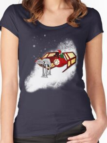 Walking in a Winter Vaderland Women's Fitted Scoop T-Shirt