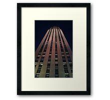 Night Skyscraper Framed Print