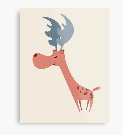 Pink Deer Metal Print