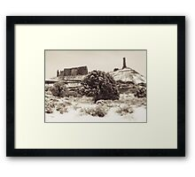 Holga Photo of Castle Valley, Utah In Winter  Framed Print