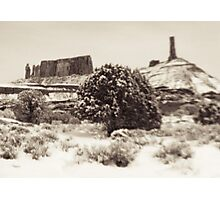 Holga Photo of Castle Valley, Utah In Winter  Photographic Print