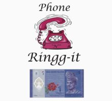 "Phone ""N"" Ringg-it One Piece - Short Sleeve"