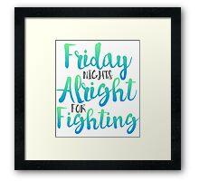 Friday Night Framed Print