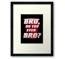 Bro, do you even Bro? Framed Print