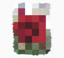 Red Rose Edges Abstract Rectangles 3 Kids Clothes