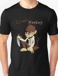 Crzymonkey Logo With Text Unisex T-Shirt