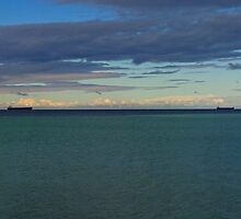 Ships at Whyalla by Paul Gilbert