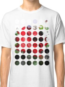 Red Rose Edges Art Circles 1 Classic T-Shirt
