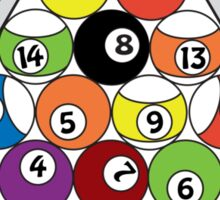 Billiards. Nice Rack Sticker