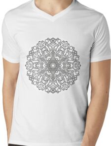Mandala 64 Mens V-Neck T-Shirt