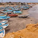 Boats at Engabao in Ecuador by Paul Wolf
