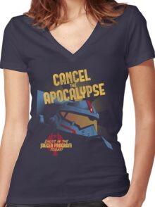 Cancel the Apocalypse Women's Fitted V-Neck T-Shirt