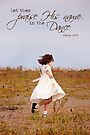 Praise His Name in the Dance - Card by Tracy Friesen