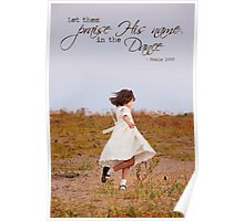 Praise His Name in the Dance - Card Poster