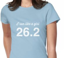 I run like a girl 26.2 Womens Fitted T-Shirt
