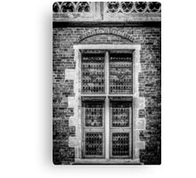 Coat of Arms Window Canvas Print