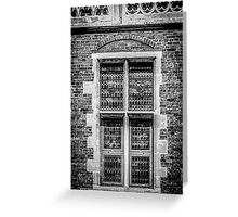 Coat of Arms Window Greeting Card