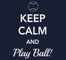 Keep Calm and Play Ball One Piece - Short Sleeve