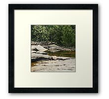 Relaxing Spot by the James Framed Print