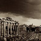 Roman Forum in Storm by Anthony Boccaccio