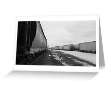 Train Yard In Febuary. Greeting Card