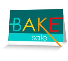 bake sale Greeting Card