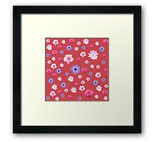 Mixture Roses and Other Flowers Framed Print