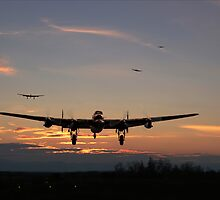 Lancaster - Dawn Return by Pat Speirs