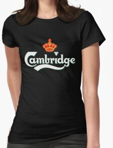 Cambridge white logo Womens Fitted T-Shirt