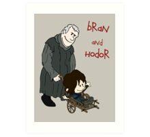 Bran & Hodor - Game of Thrones / Calvin & Hobbes Art Print
