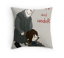 Bran & Hodor - Game of Thrones / Calvin & Hobbes Throw Pillow