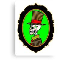 Sugar Skull Gentleman Canvas Print
