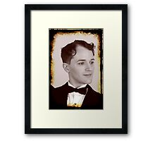 Brandon as Charles Chaplin Framed Print