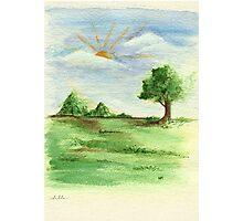 landscape watercolor Photographic Print