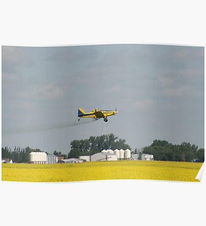 Sprayer Plane Over Canola Poster