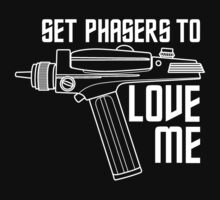Set Phasers to Love Me (White Variant) Kids Clothes