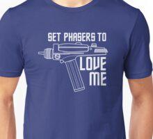 Set Phasers to Love Me (White Variant) Unisex T-Shirt