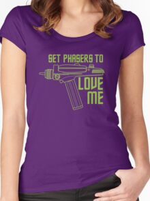 Set Phasers to Love Me (Color Variant) Women's Fitted Scoop T-Shirt