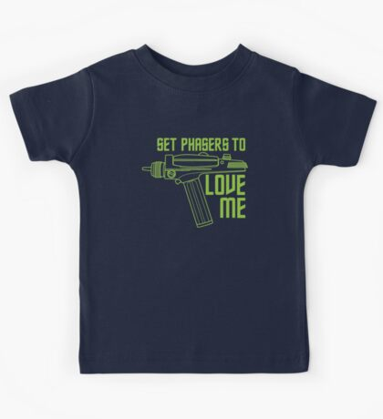 Set Phasers to Love Me (Color Variant) Kids Tee